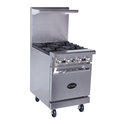 superior-equipment-supply - Royal Range Of California - Royal Range Stainless Steel Four Burner Gas Restaurant Range 24""