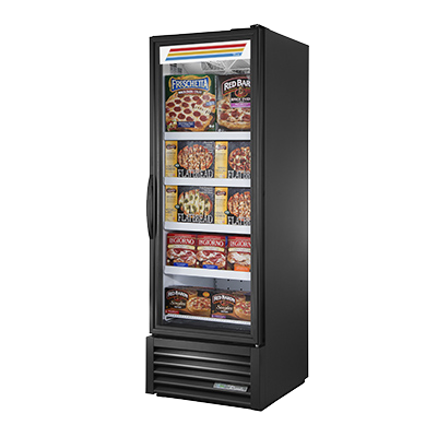 "superior-equipment-supply - True Food Service Equipment - True Black Powdered Exterior Full One Section Length Freezer Merchandiser 27""W"