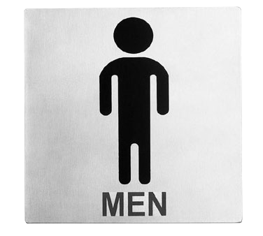 "Tablecraft Cash & Carry Sign ""Men Restroom"""