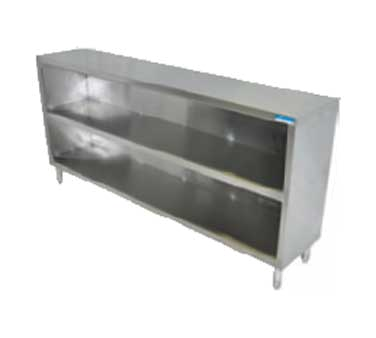"superior-equipment-supply - BK Resources - BK Resources Dish Cabinet Open Front 48""W x 15""D, 18/304 Stainless Steel"