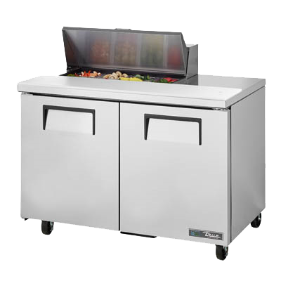 "superior-equipment-supply - True Food Service Equipment - True Stainless Steel Two Section 48""W Sandwich/Salad Unit"