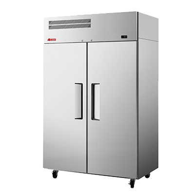 "superior-equipment-supply - Turbo Air - Turbo Air 51.75"" Wide Two-Section Stainless Steel Reach-In Freezer"