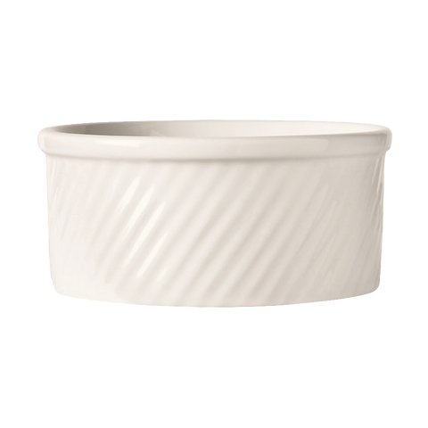 superior-equipment-supply - World Tableware Inc - World Tableware Bedrock Souffle Dish Bright White 8 oz. - 24/Case