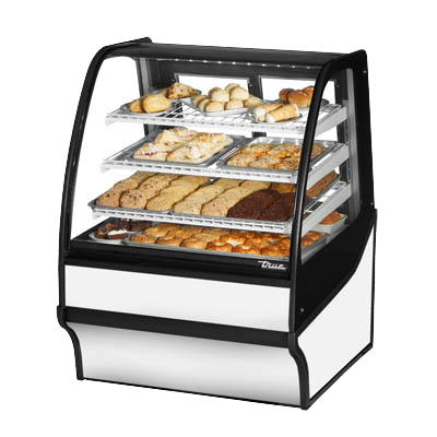superior-equipment-supply - True Food Service Equipment - True Stainless Steel Three Shelf Non-Refrigerated Display Merchandiser