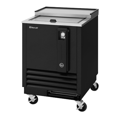 "superior-equipment-supply - Turbo Air - Turbo Air Three Section Black Vinyl 25""W Bottle Cooler"