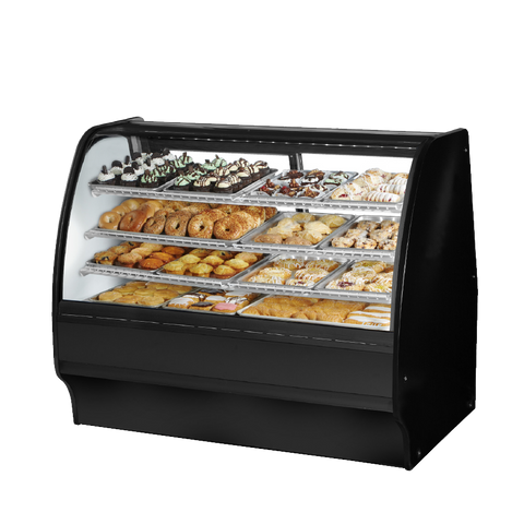 "superior-equipment-supply - True Food Service Equipment - True Black Powder Coated Exterior Non-Refrigerated Glass Merchandiser 59""W"