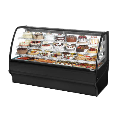 "superior-equipment-supply - True Food Service Equipment - True Stainless Steel 77""W Refrigerated Display Merchandiser With Chrome Plated Wire Shelving"