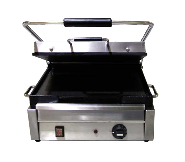 "Omcan 18"" Wide Single Sandwich Grill With Smooth Top & Bottom"
