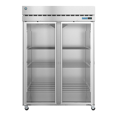 superior-equipment-supply - Hoshizaki - Hoshizaki Stainless Steel Two Section Two Glass Door Reach-In Refrigerator