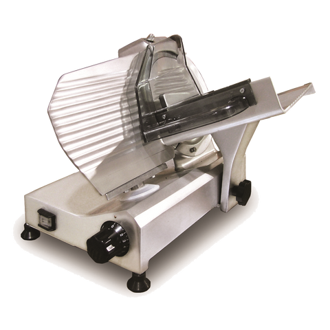 "Omcan Manual Meat Slicer 9"" Diameter Carbon Steel Blade"