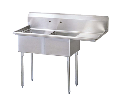 "superior-equipment-supply - Turbo Air - Turbo Air 75"" Wide Stainless Steel Two Compartment Sink"
