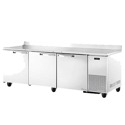 "superior-equipment-supply - True Food Service Equipment - True Stainless Steel Three Section Three Door Deep Work Top Refrigerator 93""W"
