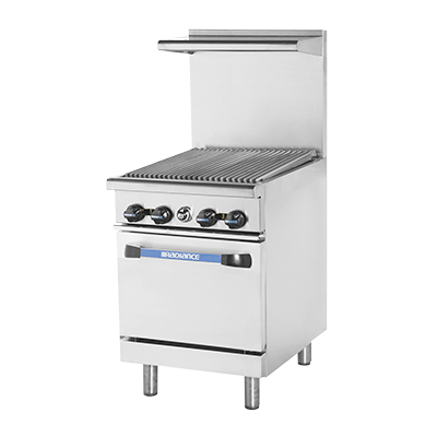 "superior-equipment-supply - Turbo Air - Turbo Air 24"" Wide Stainless Steel Heavy Duty Broiler Top Range"