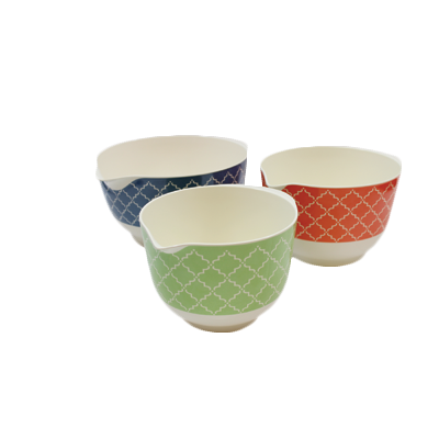 superior-equipment-supply - Tablecraft Products Co - Tablecraft Cash & Carry Farmhouse Collection Melamine Mixing Bowl Set