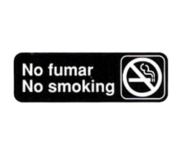 "Tablecraft Cash & Carry Sign""No Fumar/No Smoking"""