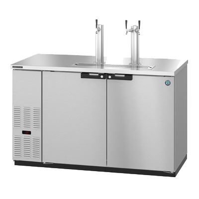 "superior-equipment-supply - Hoshizaki - Hoshizaki Two-Section (2) Tap Dispenser (3) 1/2 Keg Capacity Draft Beer Cooler 60""W"