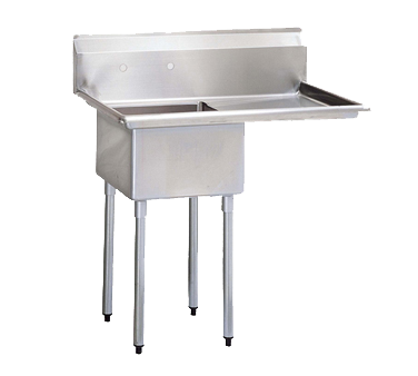 "superior-equipment-supply - Turbo Air - Turbo Air 51"" Wide Stainless Steel One Compartment Sink"