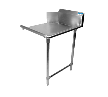 "superior-equipment-supply - BK Resources - BK Dish Table Straight Design, 60""W x 30-7/8""D x 46-1/4""H, Stainless Steel"