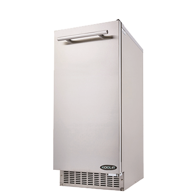 superior-equipment-supply - MVP Group - Kool-It Stainless Steel Undercounter Bell-Shaped Ice Maker 66 lbs/24 Hr. Production Capacity With 26 lbs. Ice Storage Bin