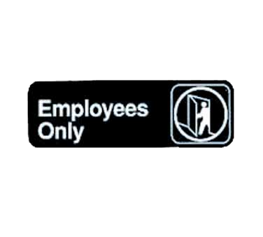 "Tablecraft Cash & Carry Sign ""Employees Only"""