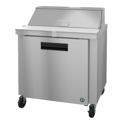"superior-equipment-supply - Hoshizaki - Hoshizaki Stainless Steel 36"" Wide Single Section Reach In Refrigerated Sandwich Prep Unit"