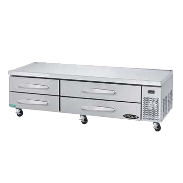 "superior-equipment-supply - MVP Group - Kool-It Stainless Steel Four Drawer Chef Base Refrigerator 83.25""W"