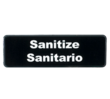 "Tablecraft Products Co Cash & Carry Sign ""Sanitize/Sanitario"""