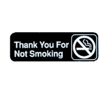 "Tablecraft Cash & Carry Sign ""Thank You For Not Smoking"""