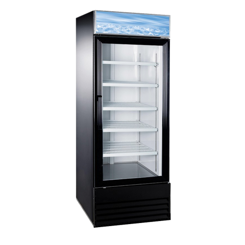 "Omcan 28.3"" Wide Reach-In One Section Refrigerator Merchandiser 648 Liter (23 cu. ft.)"
