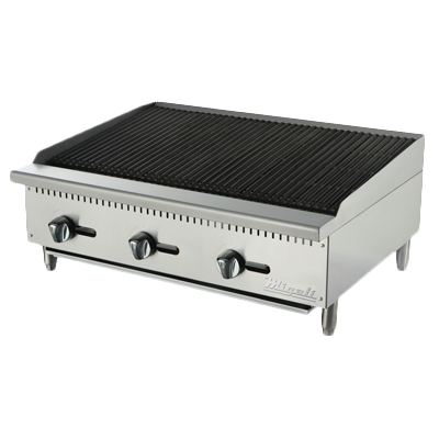 "superior-equipment-supply - Migali - Migali 36""W Stainless Steel Natural Gas Countertop Charbroiler"