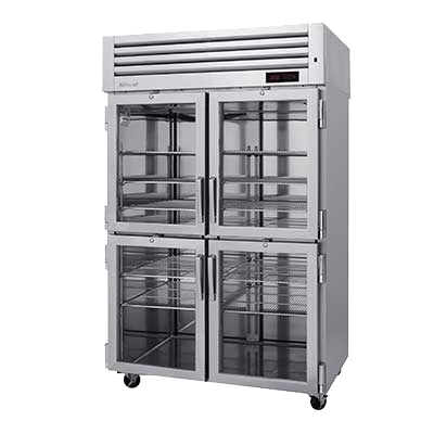 "superior-equipment-supply - Turbo Air - Turbo Air 51.75"" Wide Two-Section Stainless Steel Reach-In Heated Cabinet"