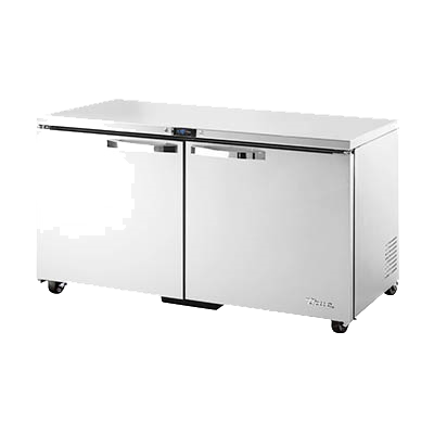 "superior-equipment-supply - True Food Service Equipment - True Stainless Steel ADA Compliant 60"" Wide Undercounter Freezer"