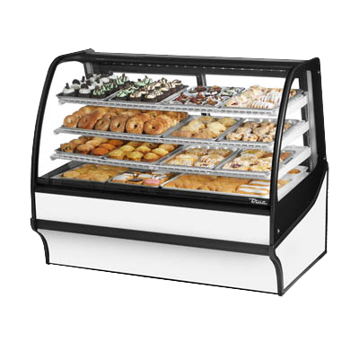 "superior-equipment-supply - True Food Service Equipment - True White Powder Coated Non-Refrigerated Three Shelf Merchandiser 59""W"