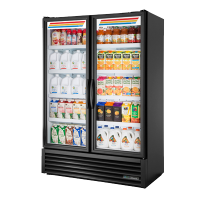 superior-equipment-supply - True Food Service Equipment - True Powder Coated Exterior Two Section Two Door Refrigerated Merchandiser