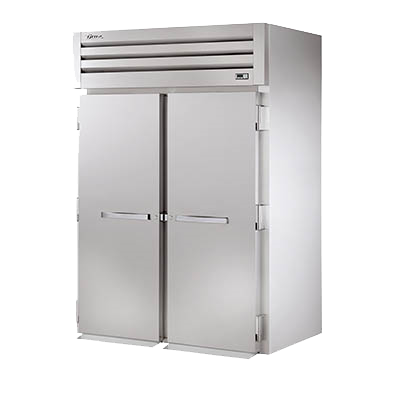 Refurbished True Two-Section Two Solid Door Roll-In Freezer