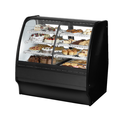 "superior-equipment-supply - True Food Service Equipment - True Black Powder Coated 48""W Dual Zone Glass Merchandiser With PVC Coated Wire Shelving"