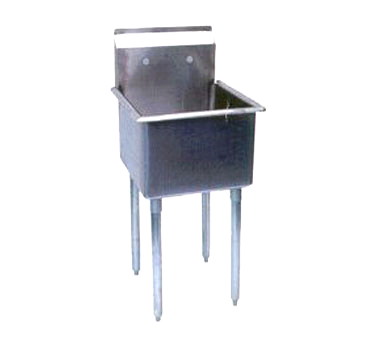 "superior-equipment-supply - Turbo Air - Turbo Air 27"" Wide Stainless Steel One Compartment Prep Sink"