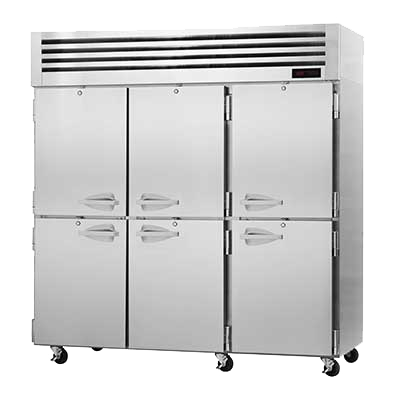"superior-equipment-supply - Turbo Air - Turbo Air 77.75"" Wide Three-Section Stainless Steel Reach-In Heated Cabinet"