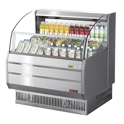 Turbo Air 6.7 Cubic Feet Horizontal Open Display Merchandiser