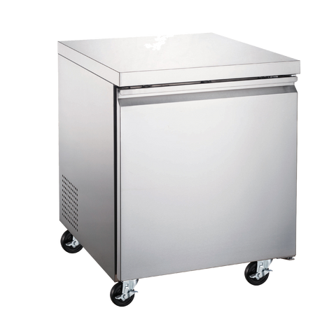 "Omcan 27"" Wide Stainless Steel Under Counter Freezer"