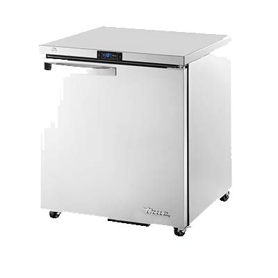 "superior-equipment-supply - True Food Service Equipment - True Stainless Steel Low Profile 27"" Wide Undercounter Freezer"