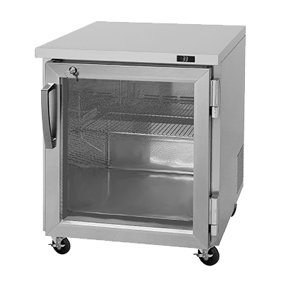 "superior-equipment-supply - Turbo Air - Turbo Air 27.5"" Wide Stainless Steel One-Section Glass Door Undercounter Refrigerator"