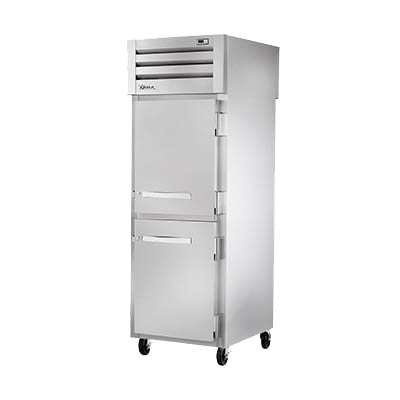 superior-equipment-supply - True Food Service Equipment - True Two Front Stainless Steel Half & Two Rear Glass Door Pass-thru Heated Cabinet -
