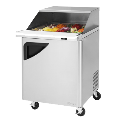 "superior-equipment-supply - Turbo Air - Turbo Air 27.5"" Wide Stainless Steel One-Section Sandwich/Salad Mega Top Unit With Slide Back Lid"