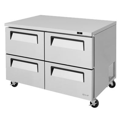"superior-equipment-supply - Turbo Air - Turbo Air 48.25"" Wide Stainless Steel Drawer Access Undercounter Refrigerator"
