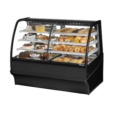 "superior-equipment-supply - True Food Service Equipment - True Stainless Steel self-Contained Refrigeration 59""W Dual Zone Merchandiser"