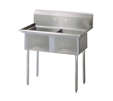 "superior-equipment-supply - Turbo Air - Turbo Air 54"" Wide Stainless Steel Two Compartment Sink"