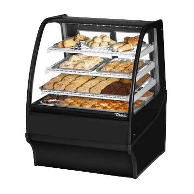 "superior-equipment-supply - True Food Service Equipment - True Powder Coated Black Exterior Non-Refrigerated Display Merchandiser 36""W"