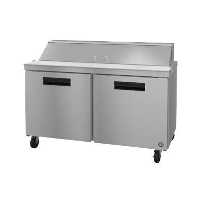 "superior-equipment-supply - Hoshizaki - Hoshizaki Stainless Steel 60"" Wide Two Section Reach In Refrigerated Sandwich Prep Unit"