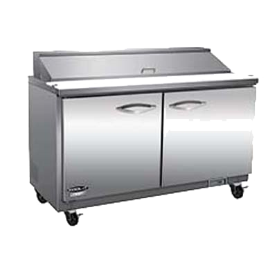 "superior-equipment-supply - MVP Group - IKON Stainless Steel Two Section Two Door Mega Top Sandwich/Salad Prep Unit 61""W"